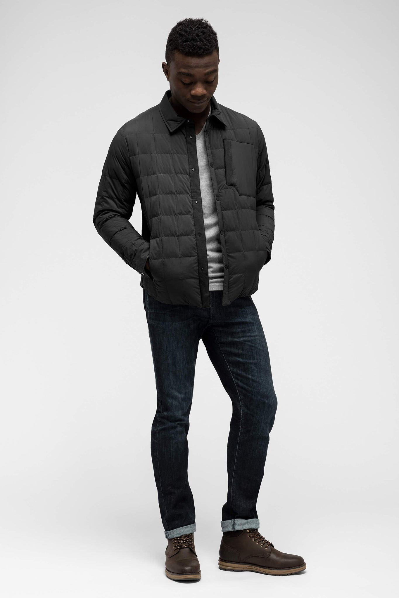 men's emberious insulated shirt - caviar