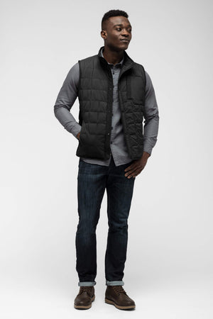 men's emberious insulated vest   caviar