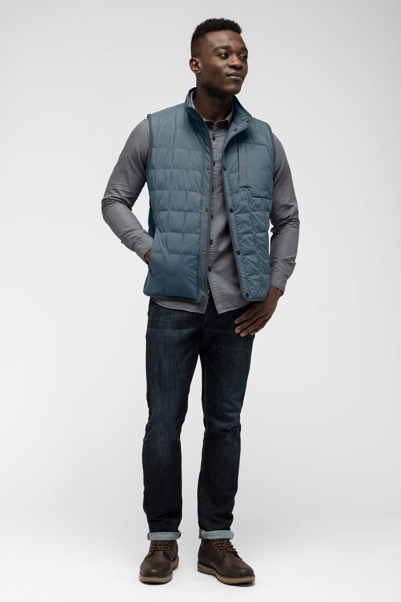 men's emberious insulated vest - slate