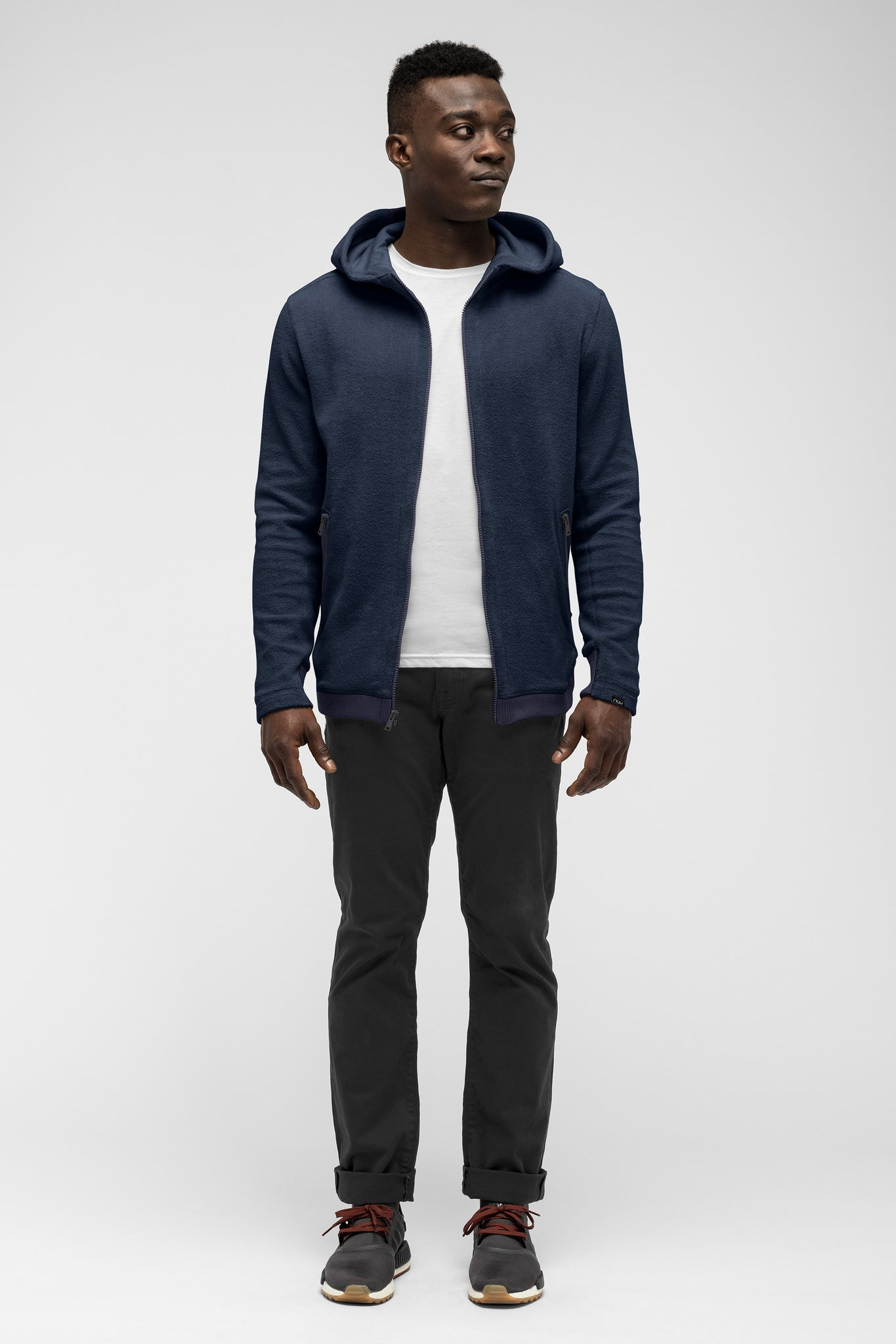 men's hybernate fleece hoody - navy