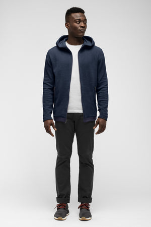 men's hybernate fleece hoody   navy