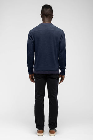 men's hybernate fleece crew   navy