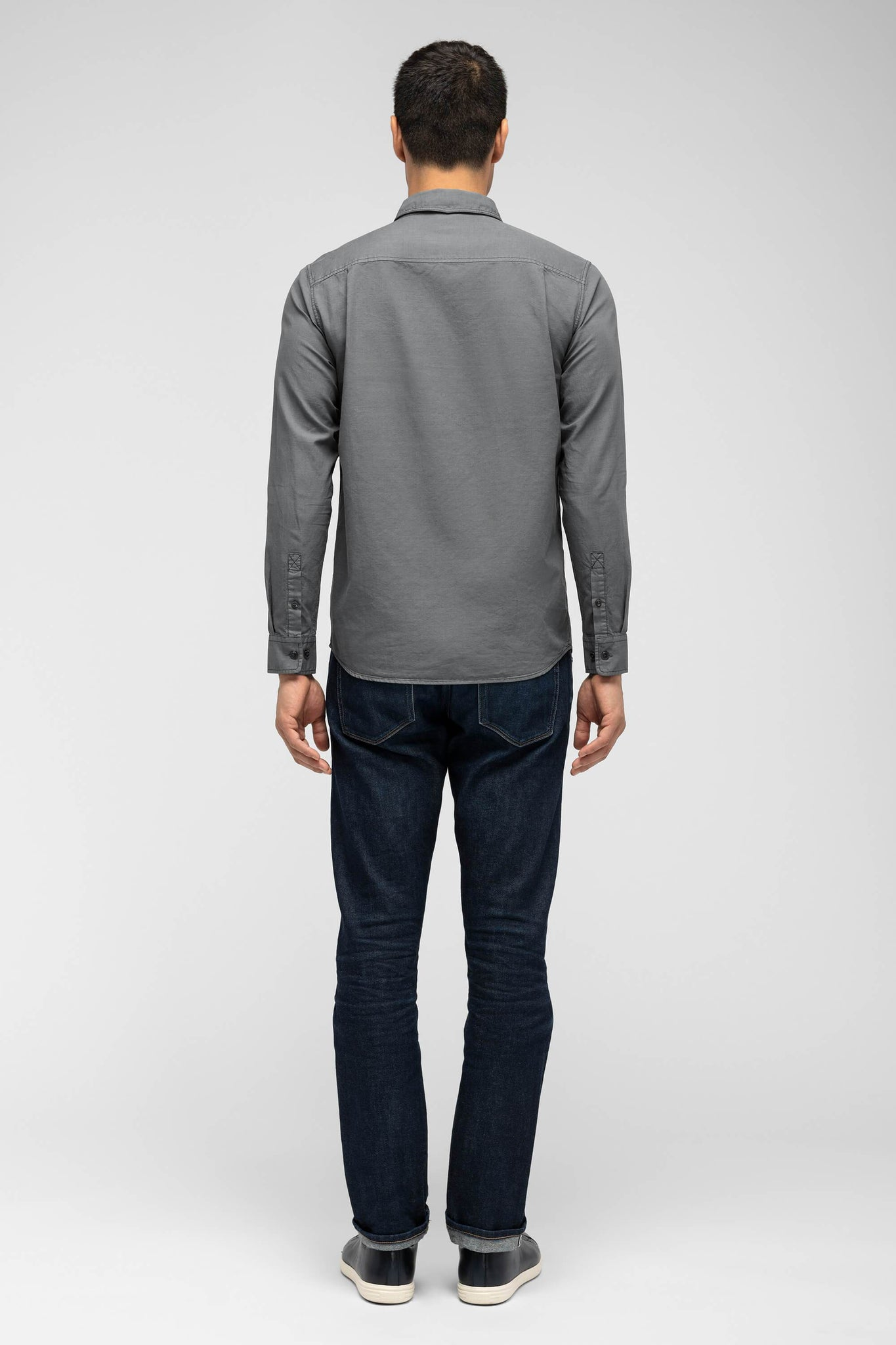 men's long sleeve chalice shirt - charcoal