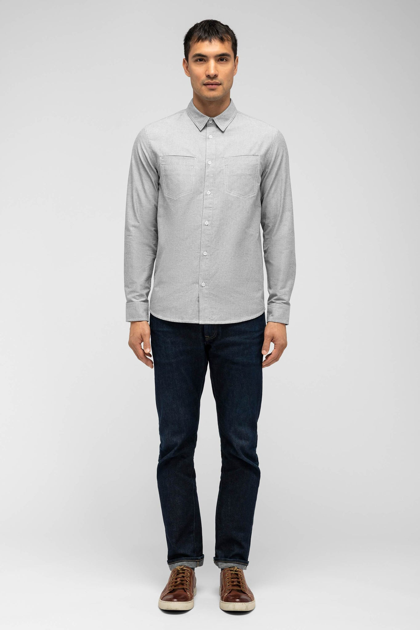men's incidental oxford shirt - shadow
