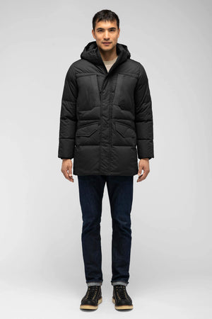 men's waxen down jacket   caviar