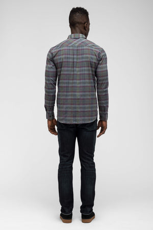 men's fortuit plaid shirt   shadow plaid