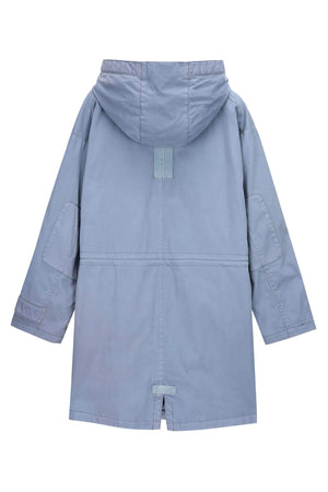 men's hooded organic cotton jacket   blue