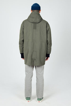 men's hooded organic cotton jacket   olive