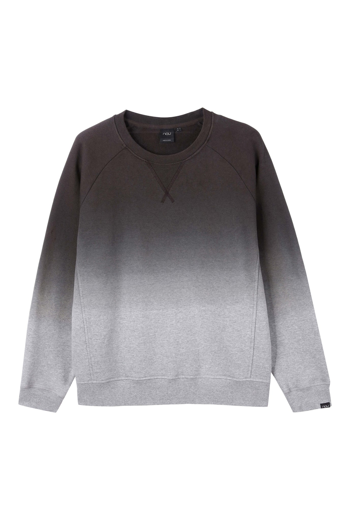 men's organic cotton ombre crew neck sweatshirt - dark grey