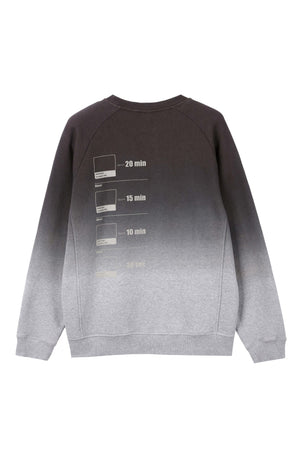 men's organic cotton ombre crew neck sweatshirt   dark grey