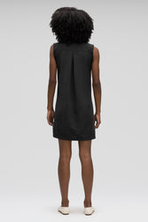 women's flaxible sleeveless shift dress - caviar