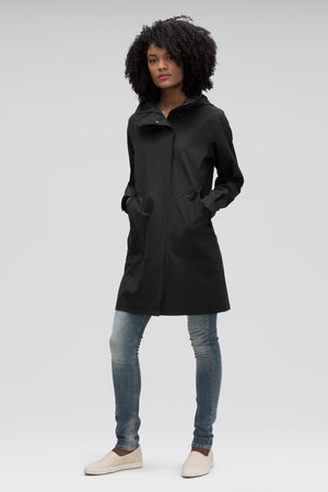 women's sequenchshell waterproof trench coat   caviar