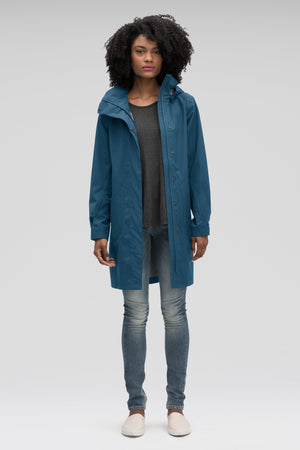 women's sequenchshell waterproof trench coat   lagoon