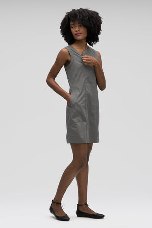 Stretch Motil Sleeveless Dress