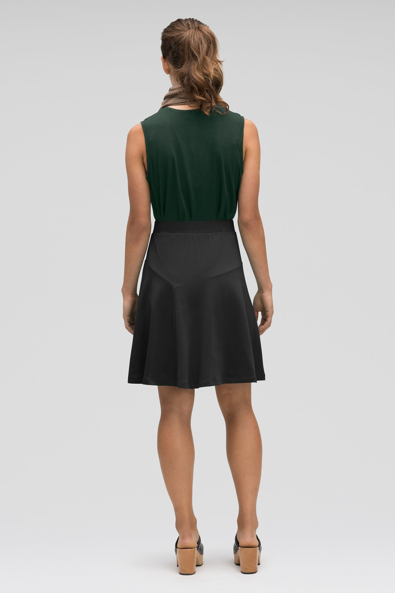 astir swing knit a-line skirt - caviar
