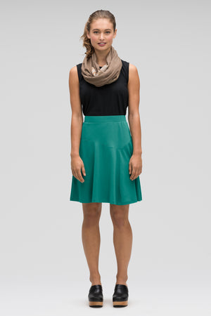 astir swing knit a line skirt   jade