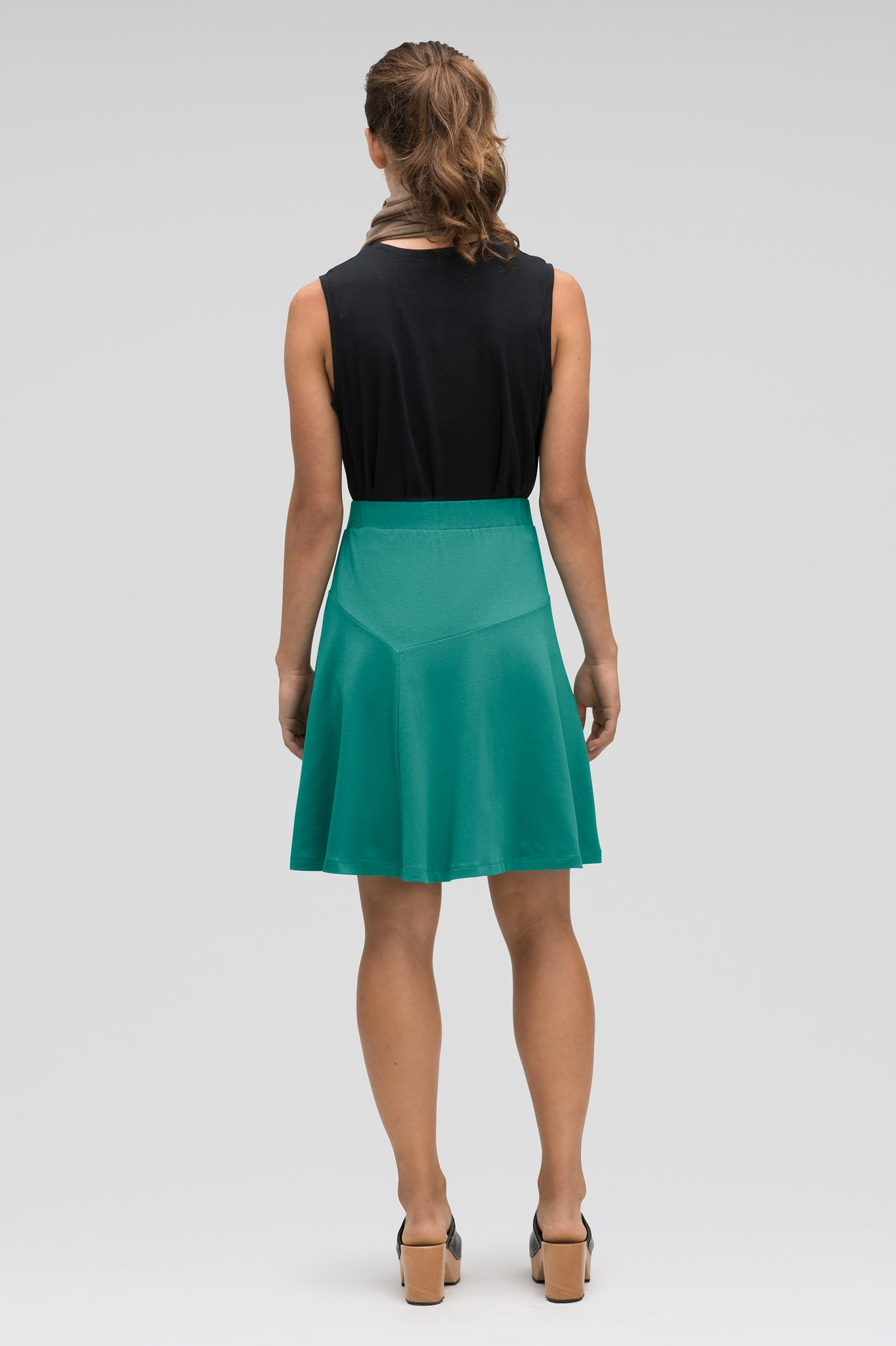 astir swing knit a-line skirt - jade