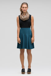 astir swing knit a-line skirt - lagoon