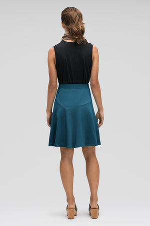 astir swing knit a line skirt   lagoon