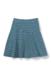 astir swing knit a-line skirt - lagoon stripe