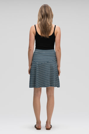 astir swing knit a line skirt   lagoon stripe