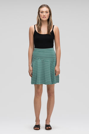 astir swing knit a line skirt   jade stripe