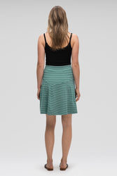 astir swing knit a-line skirt - jade stripe