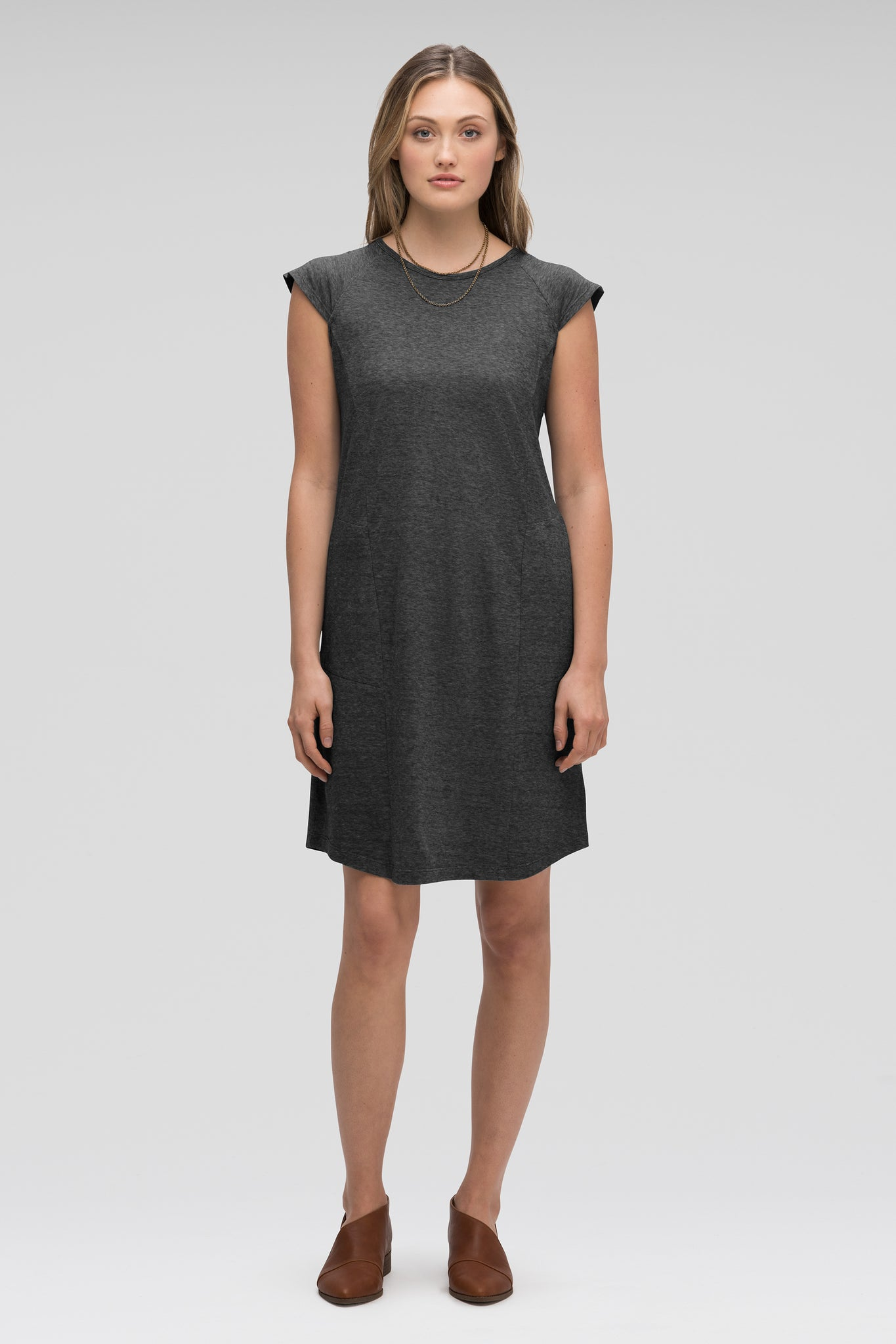 women's kanab capsleeve casual dress - caviar heather