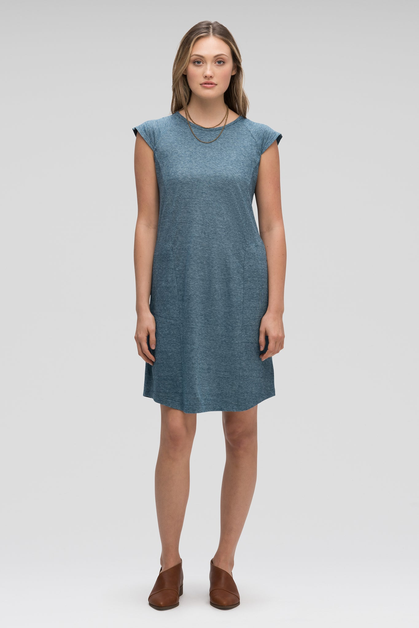 women's kanab capsleeve casual dress - lagoon heather