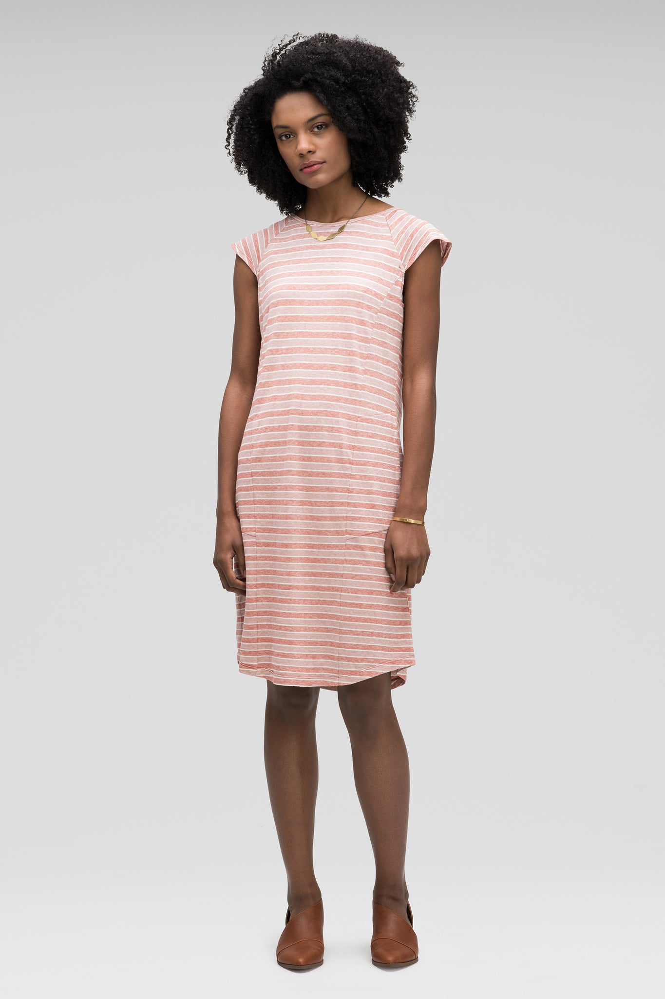 women's kanab capsleeve casual dress - rosen stripe