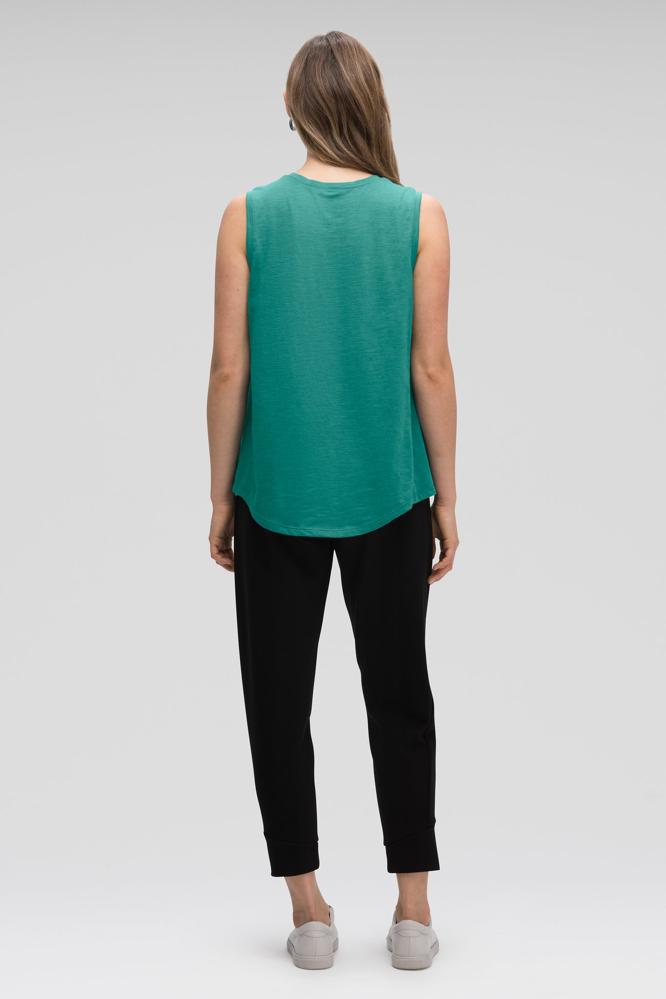 women's strie sleeveless muscle tank - jade