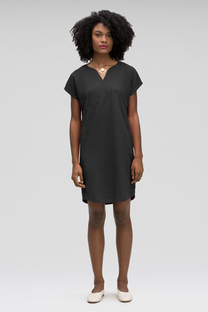 women's flaxible mod shift dress   caviar