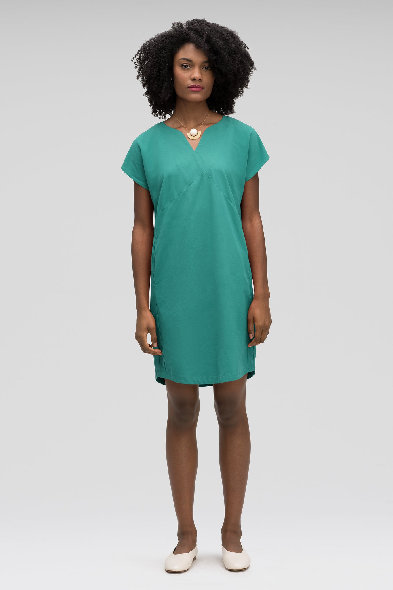 women's flaxible mod shift dress - jade