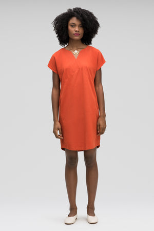 women's flaxible mod shift dress   terracotta