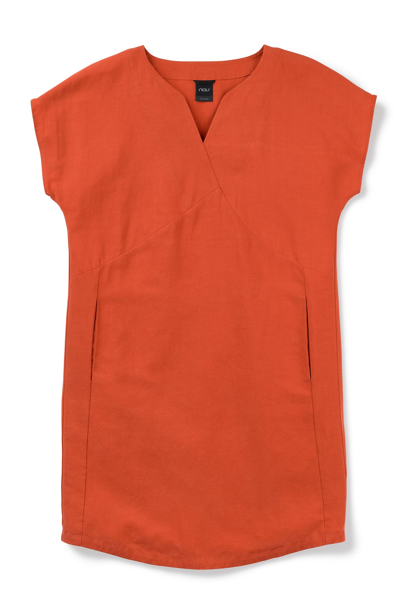 women's flaxible mod shift dress - terracotta