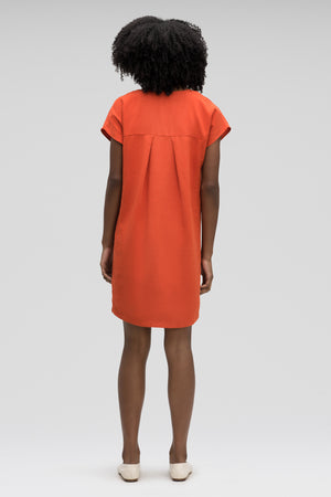 Flaxible Short Sleeve Mod Dress