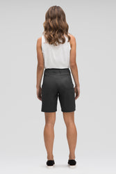 women's stretch motil quick dry short - caviar heather
