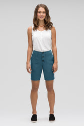 women's stretch motil quick dry short - lagoon heather