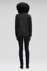 Women's Introvert Crop Tailored Jacket-Black