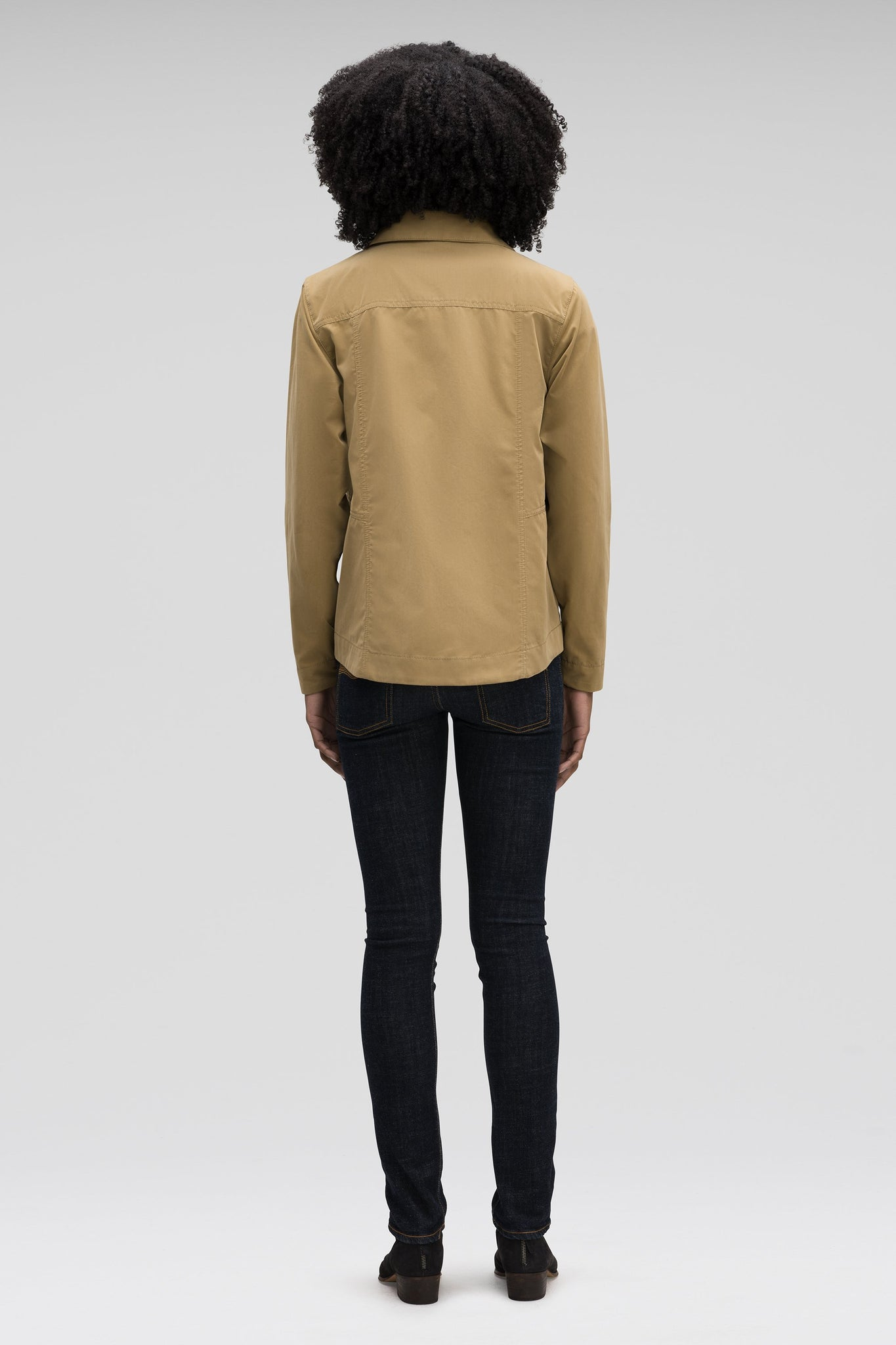 Women's Introvert Crop Tailored Jacket-Tan