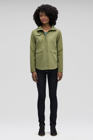 Women's Introvert Crop Tailored Jacket Green