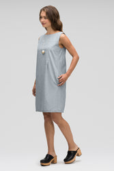 women's bloq sleeveless shift dress - lagoon