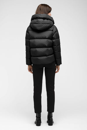 women's plume down jacket   caviar