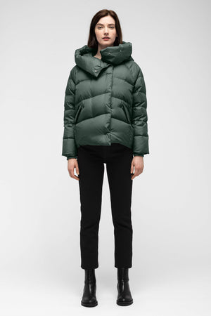 women's plume down jacket   spruce