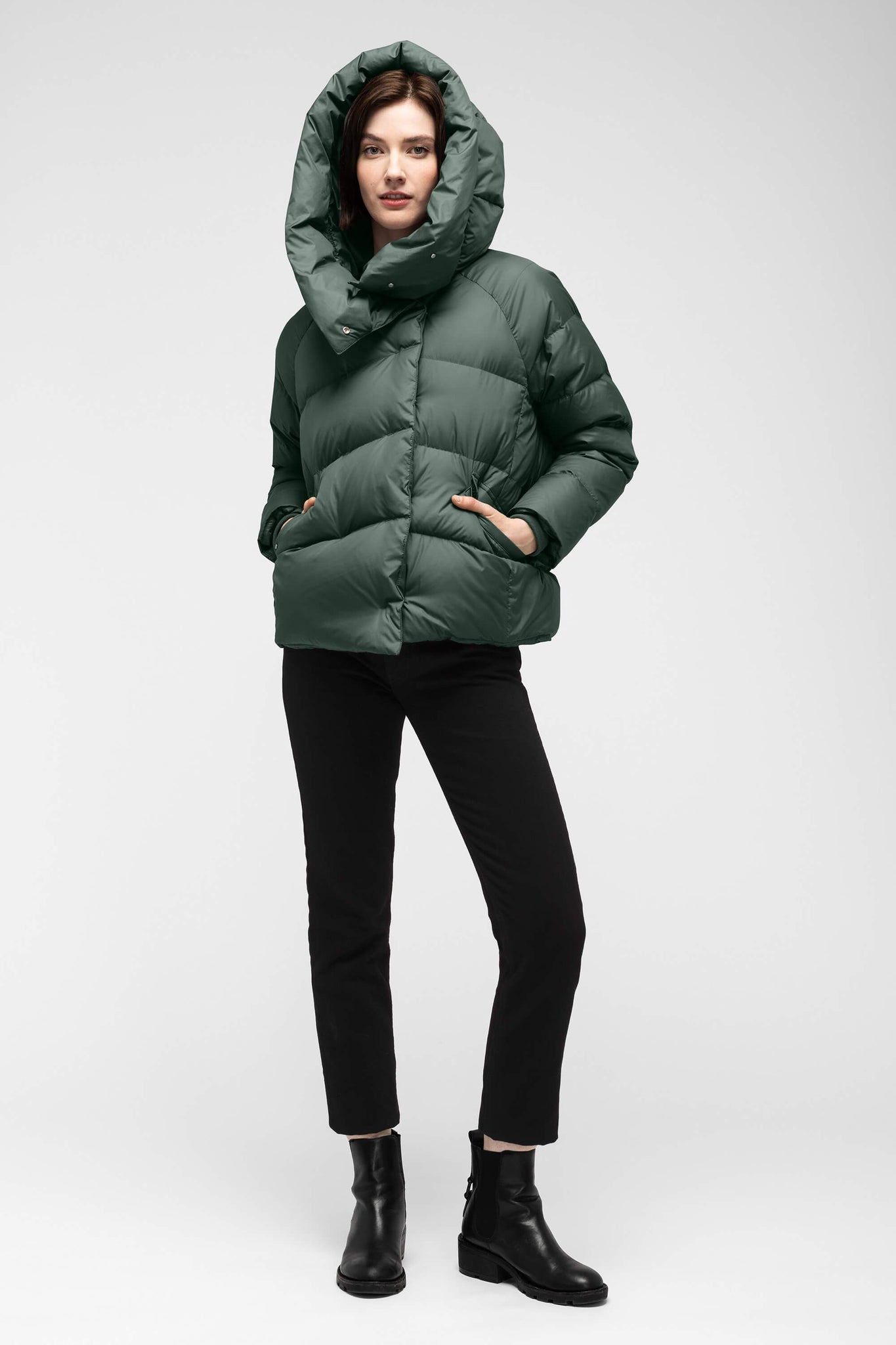 women's plume down jacket - spruce