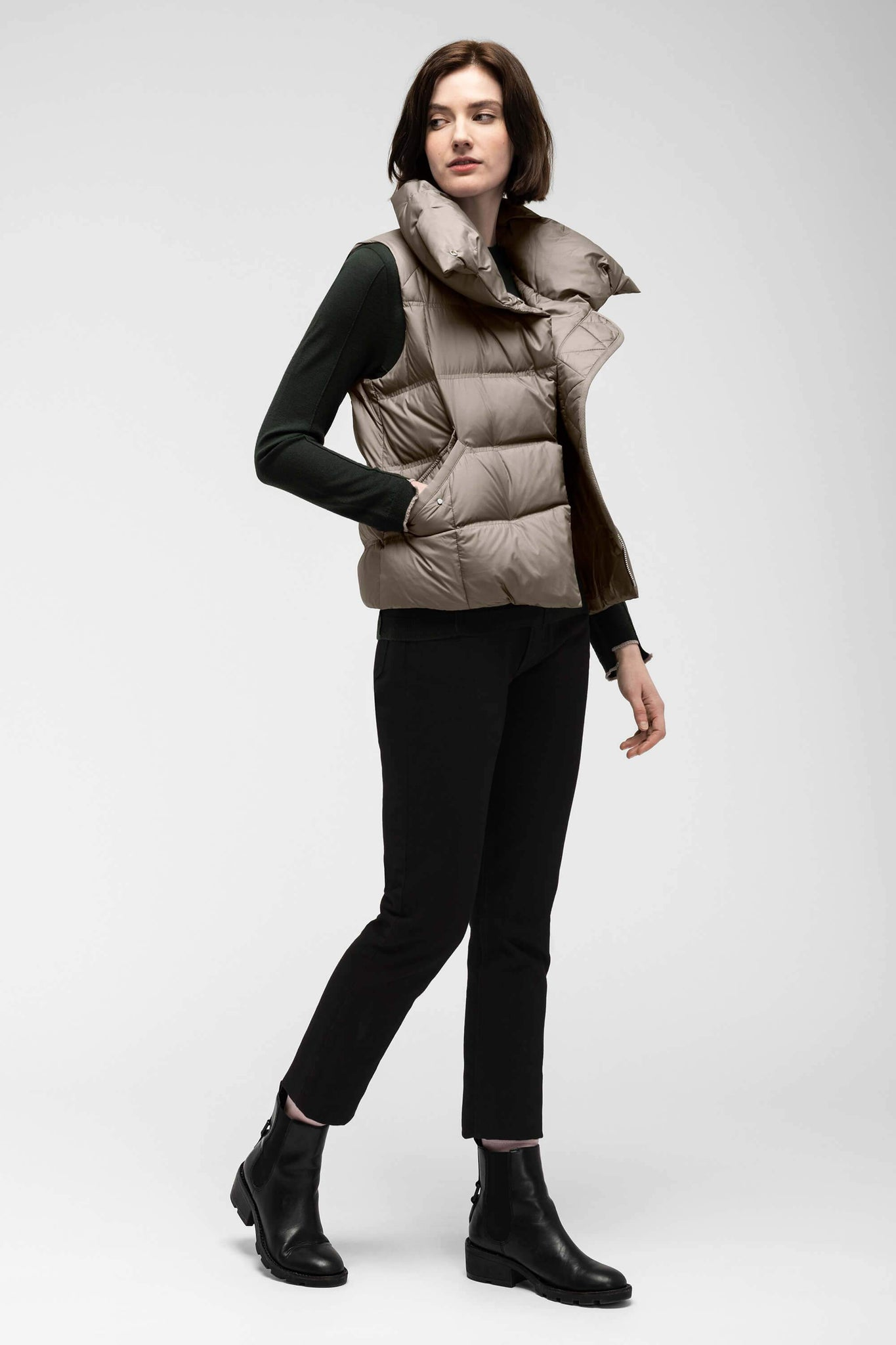 women's plume down vest - sable