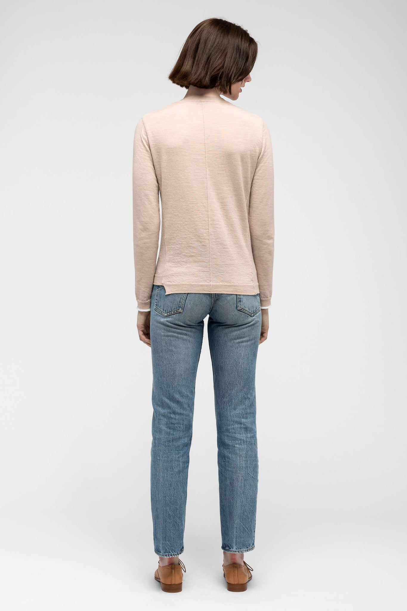 women's embyr crew neck sweater - blush