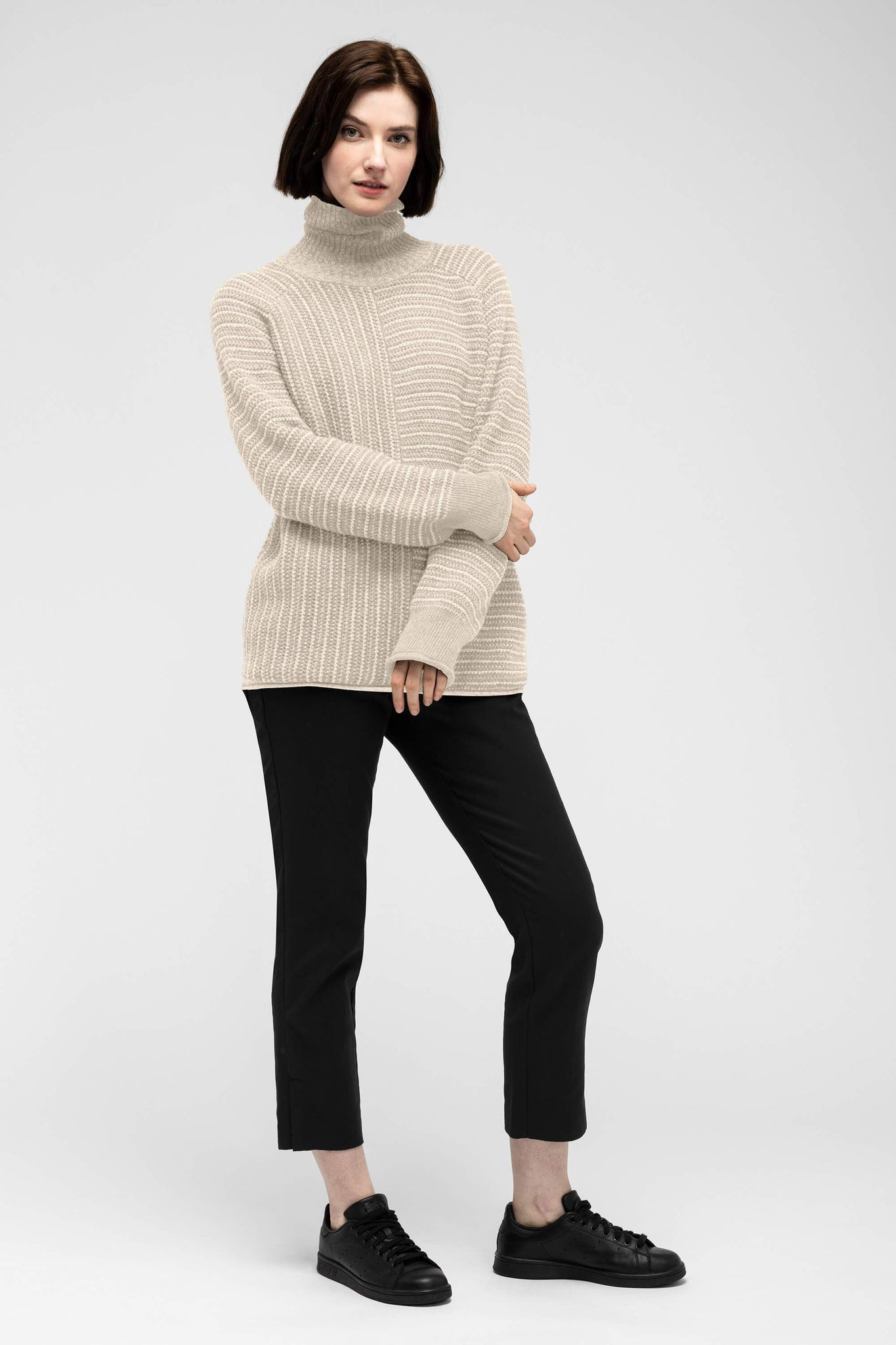women's mantyl turtle neck sweater - ivory