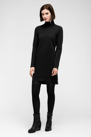 women's cozette zip neck dress   caviar