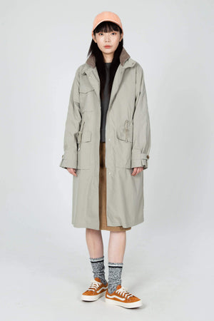 women's axis long trench coat   beige